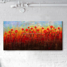 rose flower oil painting on canvas