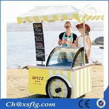 mobile sale mini coffee truck ice cream cart with cold stone
