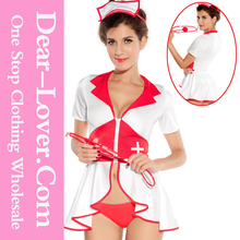 2015 latex sexy naughty wholesale Pin Up Nurse Costume