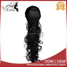 Ladies Curly Synthetic claw clip ponytail extension, wrap around ponytail