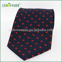 Polka Dots Mens 100% Silk Fabric For Tie