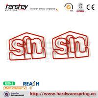 red color custom logo metal paper clip