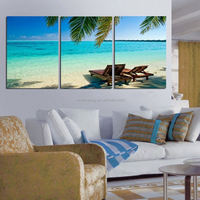 Free shipping 3 Panels Hot Modern Simple Abstract blue sea Picture Decorative Canvas Painting Living Room Paint Wall Hanging