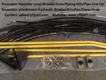 excavator auxiliary hydraulic kit