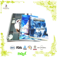 promotional metal spiral notebook with with color pages and different size