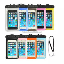Waterproof Smart phone Carrying Case Universal waterproof Pouch with Arm Strap for Smart Phone under 6''