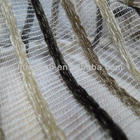 100%polyester stripe design curtain jacquard sheer fabric