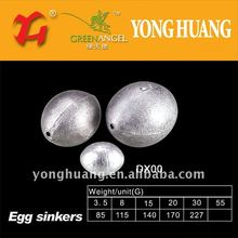 Tipo de huevo plomadas de plomo para la pesca, pesca tacklet accesorio