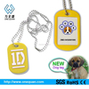 trendy top sale eco-friendly pet tag with metal qr code for promotional gift