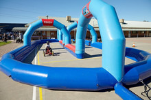 Hot sale kids Inflatable sport field for pedal karts