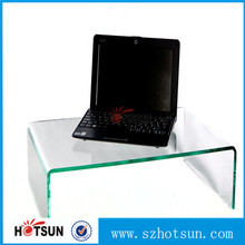 perspex clear acrylic laptop riser stand