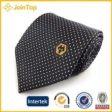 Superior quality dotted silk necktie men tie for promotional