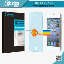 Factory Wholesale Eye Care Prevent Blue Light 9H Tempered Glass Invisible Guard for 5/5S/5C