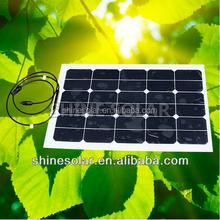 12v high efficiency with good quality small flexible solar module 45w