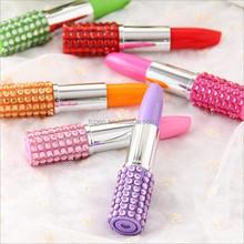 rainbow crystal bling korea lipstick pen with logo TC-0012