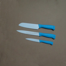3 pcs Non-stick knife set with PP handle in various colors