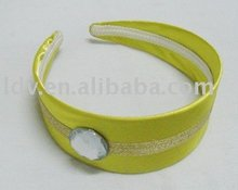 Old School Retro Vintage Wide Lemon Yellow with Plain Hairband With HeadBand