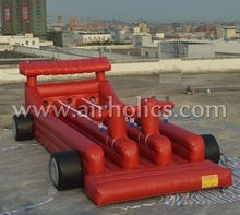 Inflatable bungee run and basketball A6058