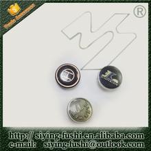 2015 fashion injection epoxy resin metal button epoxy shank cap button