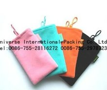 2012 all color velvet pouch for mobile phone