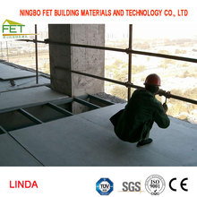 Fireproof fiber cement composite flooring board
