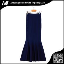 Acción de la fábrica barato primavera invierno lana de cintura alta falda larga de la manera coreana