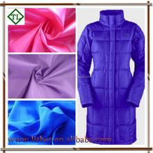 Cheap taffeta coated lining fabrics/taffeta coated and rolling