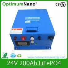 OptimumNano 24V 200AH solar lithium battery with smart BMS