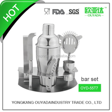 Stainless steel cocktail bar set