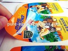 Custom shaped perfect appearance shampoo sticker