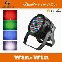 rgbw color mixing 54pcs 3w night club ip 65 led par light