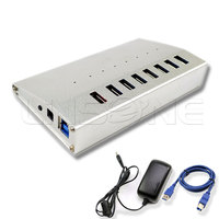 Promotional Multi port usb hub with data transfer and charging