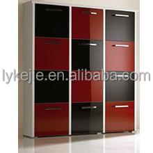 Modern Corner Big Metal Shoe Cabinet Steel Detachable Shoe Rack Entrance 5 Layers Steel Shoe Cabinet
