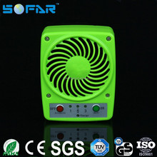 Cooling mini clip fan decorative small plastic powerful battery charger table fan