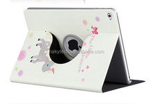 2014 newest printing tablet case for iPad mini & samsung 360 degree rotating