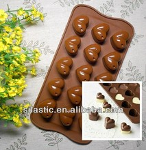 15 holes heart-shaped silicone cake mould handmade chocolate mold ice cube tray baking &pastry tool