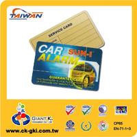 Hot sale barcode plastic PVC salon membership card