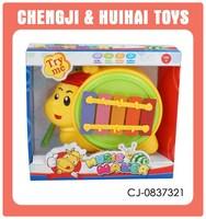 Children musical instrument toy plastic cartoon snail design xylophone prices