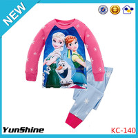LOW MOQ Instock Children Girls Fashion Cartoon Sleepwear Pajamas Clothing Cute Baby Newborn Clothes Set