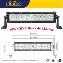 2015 descuento grande 60W IP67 lado instalar LED luz de trabajo para camiones
