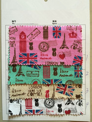 fashion cotton fabric canvas printed fabric for christmas cotton printed canvas of England