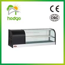 china factory OEM refrigeration equipment 1.2m 1.5m 1.8m 2m glass double layer countertop display freezer Export to Estonia