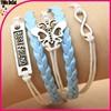 leather infinity bracelet wholesale,infinity love bracelet,butterfly bracelet