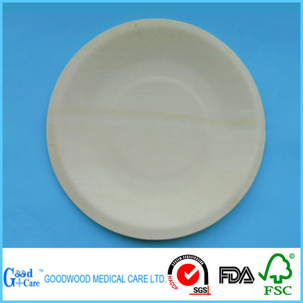 Disposable Wooden Round Plate For Restaurant Buy Wooden Plate Restaurant Pl