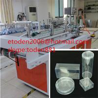 dongguan PET clear box hot melt glue machine