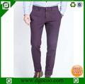 Los hombres más reciente diseño casual men\'s negro pantalones formal de lana de algodón pantalones