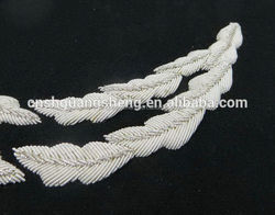 Good quality professional silvery white pattern uniform caps