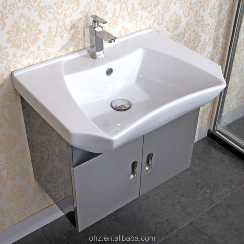 Stainless Steel Home Goods Bath Vanity With Cabinet Mirror