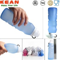 2015 New Design BPA Free Soft Silicone Custom Reusable Water Bottles