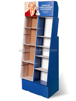 Cardboard Floor Display Stand Portable Book Stand